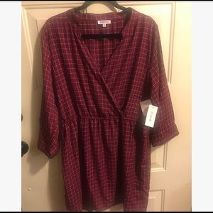 NWT Cinched Shirt Dress by Fabletics